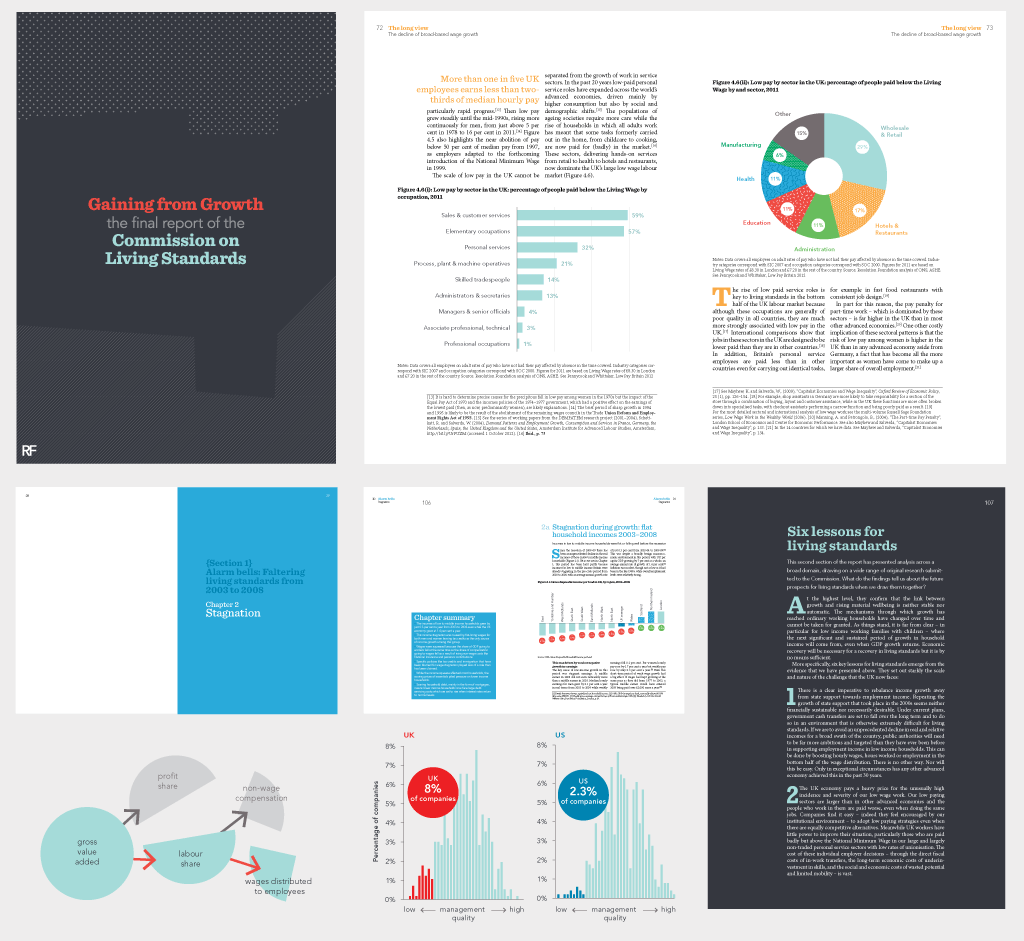 resolution foundation book layout and chart design for the